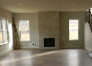 Vacant custom home before staging
